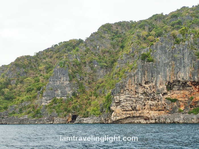 karsts, rock formations as seen from Bantigue Island, Islas de Gigantes, Gigantes Islands, Carles, Iloilo.JPG