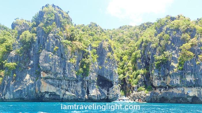 karsts, rock formations, outside Tangke Lagoon, saltwater lagoon, Gigantes Islands, Islas de Gigantes, Iloilo.JPG