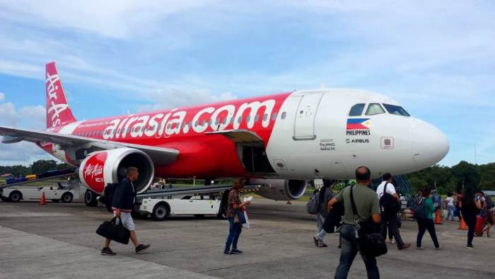 AirAsia plane flight from Bohol
