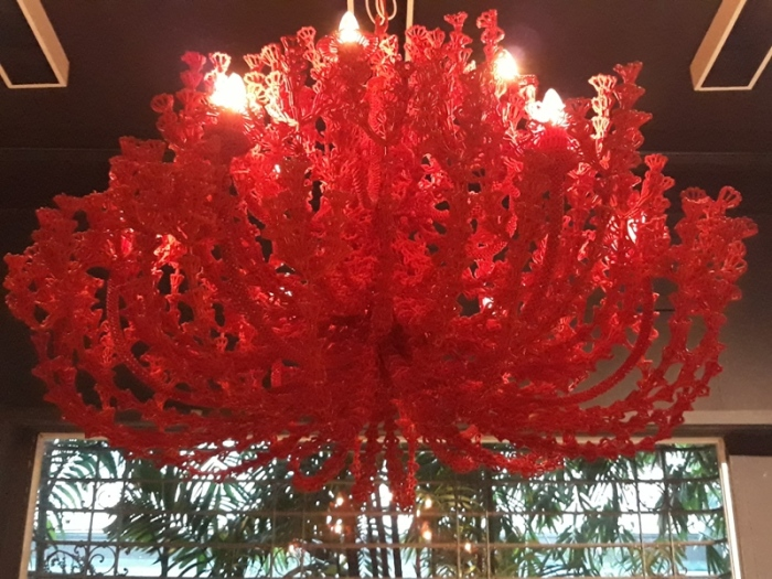 chandelier red