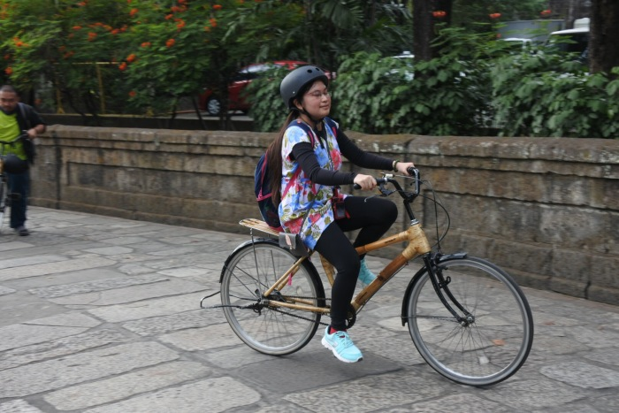 Bambike biking, Intramuros, Manila, bamboo bike tour, eco-friendly tour.JPG