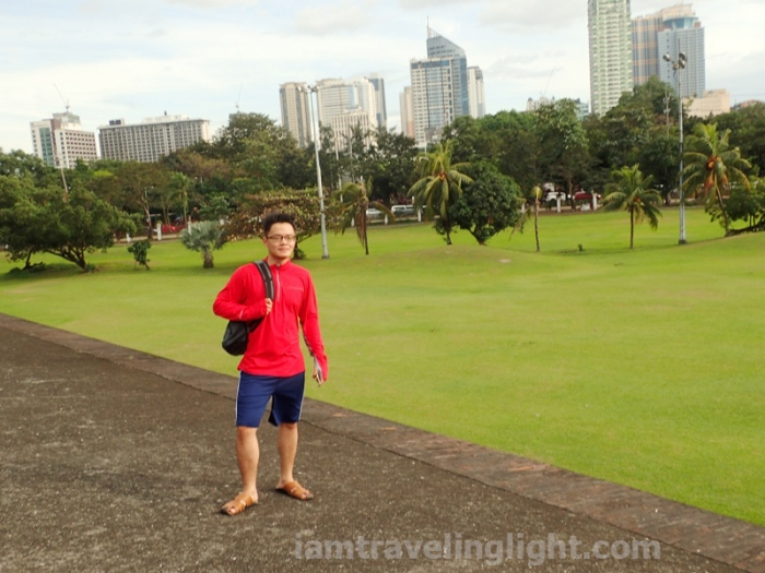 Bambike, fort, view of golf course, bamboo bike tour, eco-friendly tour, Intramuros, Manila.JPG