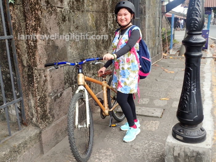 Bambike, happy biker, Intramuros, Manila, bamboo bike tour, eco-friendly tour.JPG