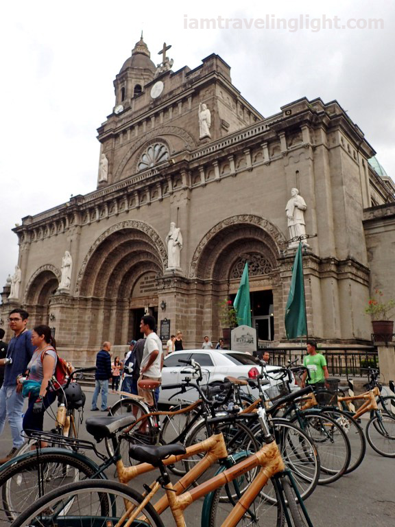 Manila Cathedral, bamboo bike, Bambike eco tours, eco-friendly tour.JPG