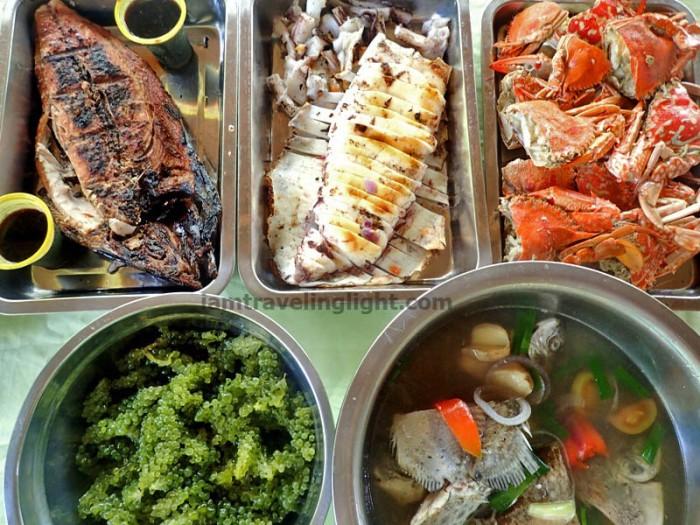 Enchanted River, lunch, fresh seafood, Hinatuan, Surigao del Sur.JPG