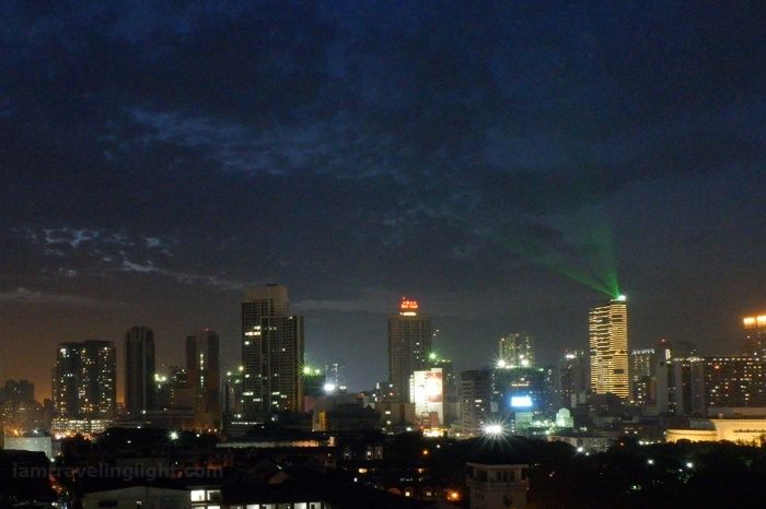 Intramuros skyline, cityscape, blue hour, cropped