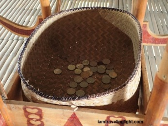The basket for coin offerings