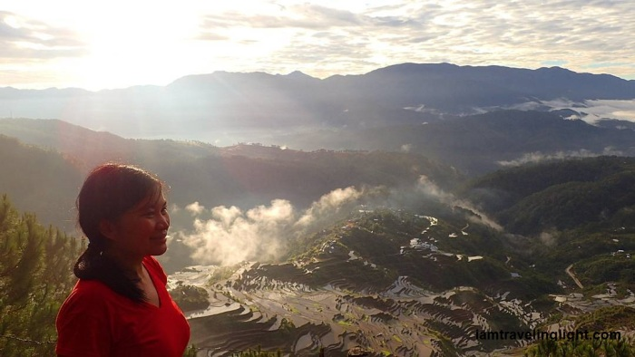 Mt. Kupapey with view of Maligcong Rice terraces, Cordillera, Philippines
