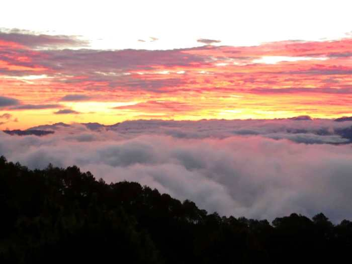 Orange sunrise, sea of clouds, Marlboro Hills, Sagada