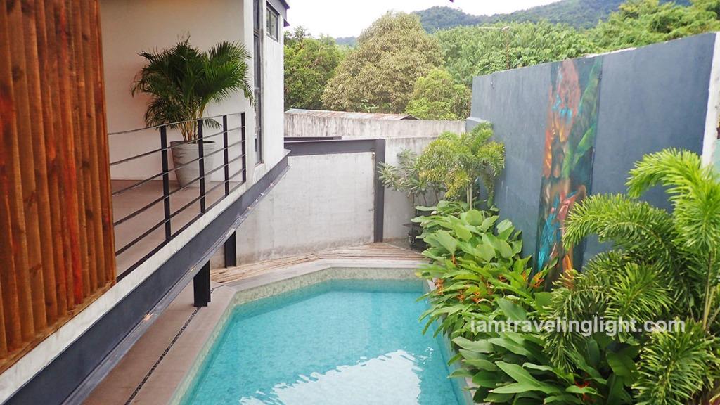 Main view of Casa Tropica Diwata Villa: A beautiful and affordable private resort in Laguna. Makiling mountain backdrop